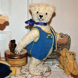 So cute old 15 German white humpback mohair Teddy Bear Steiff Bing