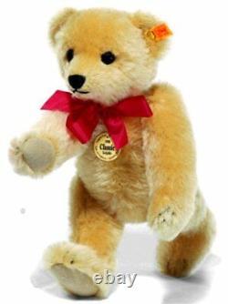 Steiff 1909 Classic Teddy Bear blond mohair replica / growler 35cm 000379