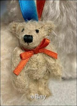 Steiff 2019 GREAT AMERICAN BEAR Teddy Roosevelt 13.75 Mohair withGrowler 683619