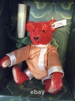 Steiff 7 Baby Alfonzo Red Plush Mohair Teddy Bear Limited Edition 1995