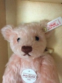 Steiff 9 Japan Baby Masako Curly Rose Mohair Teddy Bear Limited Edition