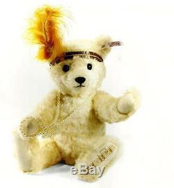 Steiff Charleston Teddy Bear Ean 682391 White Mohair Bear -musical 2013