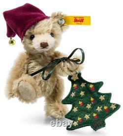 Steiff Christmas'Nic' Teddy Bear festive mohair edition 026782