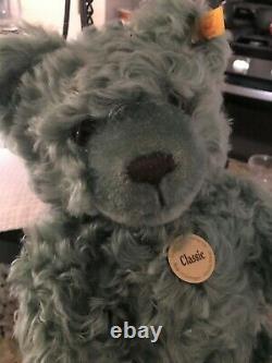 Steiff Classic Genuine Mohair Green Teddy Bear