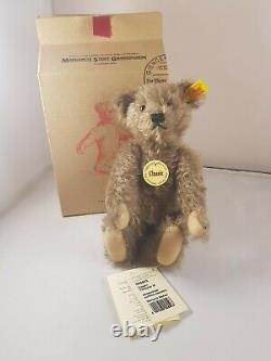 Steiff Classic Teddy Bear EAN 005503 25 cm Dispersed Mohair Tag Teddybar