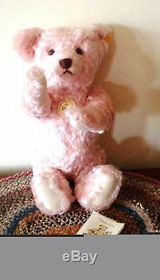 Steiff Classic Teddy Bear Ean 000270 Pale Rose Mohair Bear, Jointedd 35 Cm/14