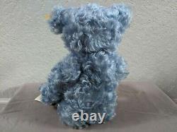 Steiff Classic Teddy Bear Light Blue Mohair 005077 With Growler 15 1/2