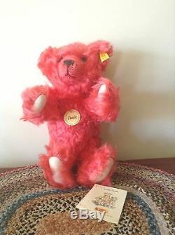 Steiff Classic Teddy Bear Mohair-watermelon Red-11-press Me Voice-charmer