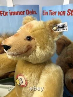 Steiff DICKY TEDDY BEAR withVELVET PAWS LE 005640 (1985) Mohair 13 (Replica 1930)