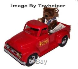 Steiff Delivery Man Truck 1997 & 6 Mohair Jointed Teddy Bear withTag Low # 00883