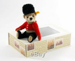 Steiff GREAT ESCAPE LONDON TEDDY Gift Box 026867 6 Jointed Mohair NEW