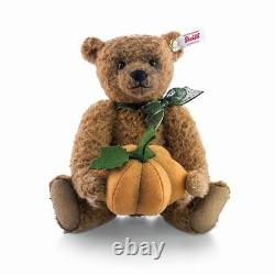 Steiff Harvest Teddy Bear Ean 683121 Russet Mohair-holds Pumpkin LIM Ed 2016