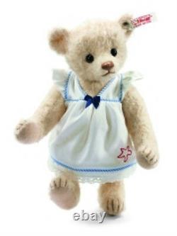 Steiff June Teddy Bear Ean 035951 Light Beige Mohair Bear In Nautical Dress