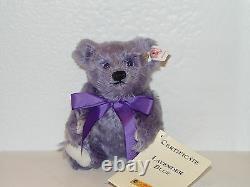 Steiff MINI LAVENDER BLUE Teddy Bear EAN 666049 MOHAIR 6.29 inches (16cm) NEW