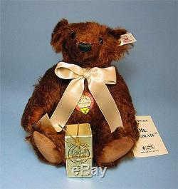 Steiff MR CHOCOLATE TEDDY BEAR Toledo Toy Store Excl Mohair 9.9 (25cm) RARE