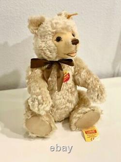 Steiff Mohair Blonde Teddy Bear Mint Condition with Tags