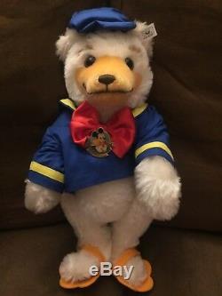 Steiff Mohair Teddy Donald Duck 651205 15 Tall Signed 1993