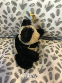 Steiff Rare Miniature Panda Teddy Bear 4.25 0250/11 1968 -72