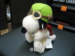 Steiff Snoopy Peanuts Flying Doll Ace 1500 limited Teddy Bear Mohair Plush USED