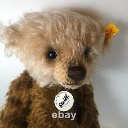 Steiff Teddy Bear #001017, Cream and Brown Mohair, 14 Tall, with Tags