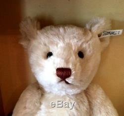 Steiff Teddy Bear 1921 Replica Ean 407123 White Mohair 40 CM LIM Ed 1996