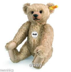 Steiff Teddy Bear Classic 1909 Mohair Growler Surface Washable MIB 000140