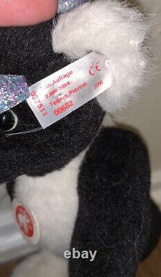 Steiff Teddy Bear Peirrot Mohair 2006 Jointed EXTREMELY RARE Black White