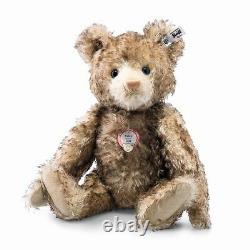 Steiff Teddy Bear Petsy Replica 1928-brown Tipped Mohair-glass Eyes 13.8 2016