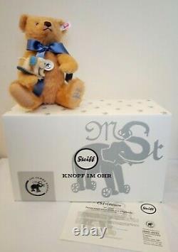 Steiff Teddy Bear with Little Felt Elephant, Mohair, 30cm Limited Edition 006166