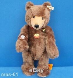 Steiff Watch Teddy Bär Stofftier Mohair 45 CM Bear Uhr