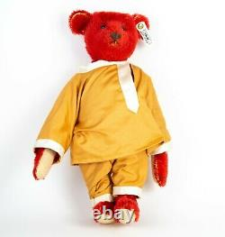 Steiff -large Alfonzo, 1908- Limited Edition Red Mohair Teddy Bear 406195, Boxed