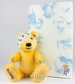 Steiff -pudsey- Limited Edition Children In Need Yellow Mohair Teddy Bear 654398