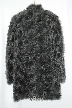Stella McCartney Teddy Bear Curly Mohair FUR Coat Cocoon Grey Size 42 2 4 XS S