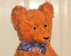 Stunning 28 German PETZ cinnamon humpback mohair teddy bear 1930's
