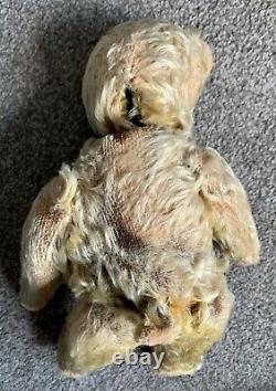 Super Rare Antique German Schuco Mohair yes/no Teddy Bear Jeweled Eyes 12 LOOK