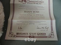 Teddy Rose Steiff Bear Replica Of 1925 Pink Mohair