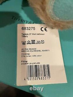 Tiffany & Co Steiff Teddy Bear sterling silver love heart in Mohair Brand new