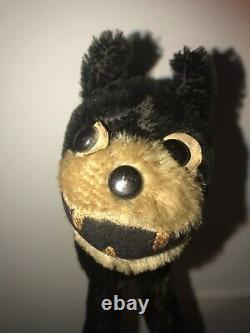 VINTAGE VELVETEEN & MOHAIR FELIX THE CAT TOY TEDDY JOINTED Straw Filled 1920s