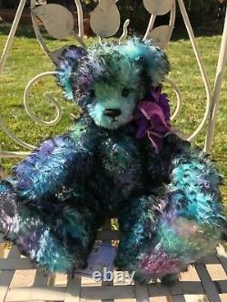 VIOLET Artist Mohair Teddy Bears Diana Watts Dibears Curly Blue Purple OOAK 14