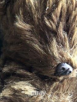 VTG Knickerbocker Brown Mohair Teddy Bear Tin Nose 13 Moving Limbs Glass Eye