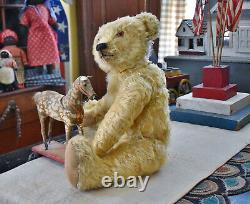 Very Large Antique Mohair Teddy Bear 28