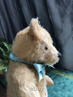 Vintage 16 Steiff Antique Teddy Bear Honey Blonde Mohair Growler Works