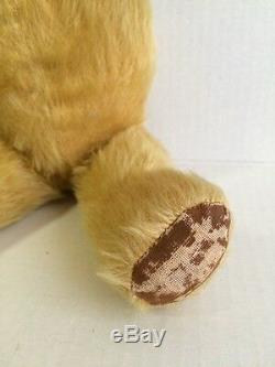 Vintage 1950's Musical Mohair TEDDY BEAR 15 Toy CHAD VALLEY CO LTD Works Fine