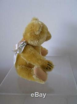 Vintage 1950's Steiff Original Gold Mohair Teddy Bear jointed Chest Tag 8 tall