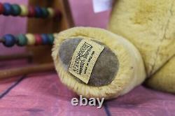 Vintage 1960's Merrythought Golden Mohair Teddy Bear Original Labels 15