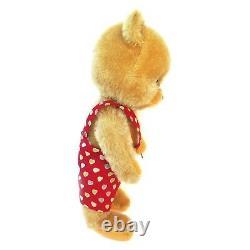 Vintage 1960s Schuco Bigo Bello Teddy Bear 10 Golden Mohair Fur Googly Eyes
