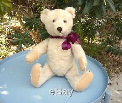 Vintage Antique 1949 Steiff WHITE ORIGINAL TEDDY Bear Mohair 1940s 1950s