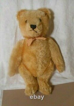 Vintage/Antique Steiff Jointed Mohair Teddy Bear 11 Working Squeaker