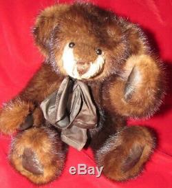 Vintage Black Teddy Bear 22 Artist Thymeless Treasures Rare Mohair Long Arms