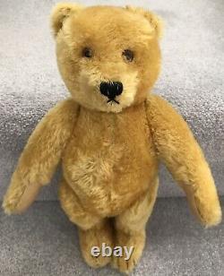 Vintage Golden Mohair Jointed Growler Teddy Bear Prob Steiff C. 1950s
